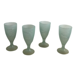 1970s French Opaline Glassware - Set of 4 For Sale