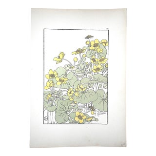 Antique Pochoir Art Nouveau/Arts & Crafts Botanical Print-J. Foord-Decorative Flower Studies For Sale