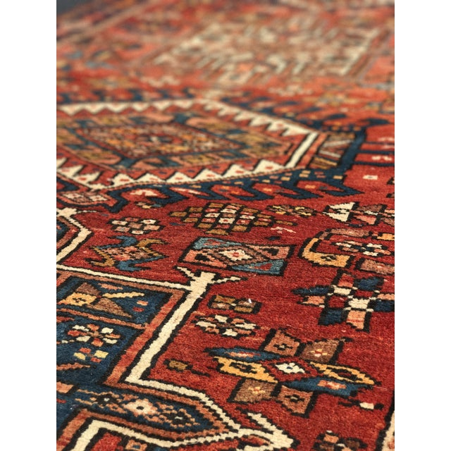 "Vintage Persian Karajeh Runner - 3'1"" x 11'6"" - Image 9 of 10"