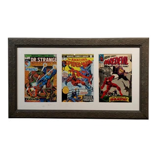 Dr. Strange, Spider Man & Daredevil Original Vintage Comics Covers Framed For Sale