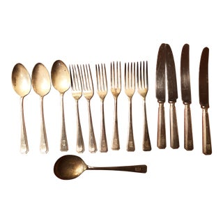 Late 19th Century Vintage Collection of English Hotel Silverplate Flatware - 81 Pieces For Sale