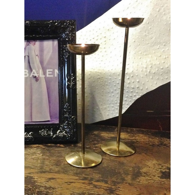 Brass Candlesticks - Pair - Image 2 of 3