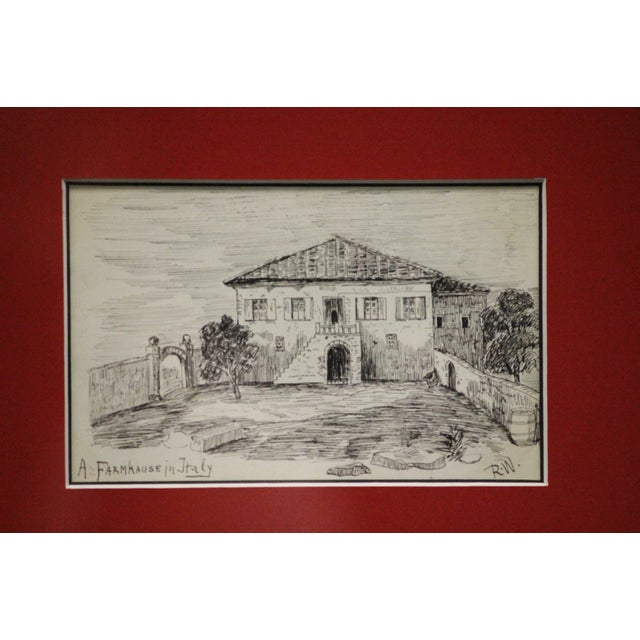 Postcard Drawings From Italy For Sale - Image 9 of 10