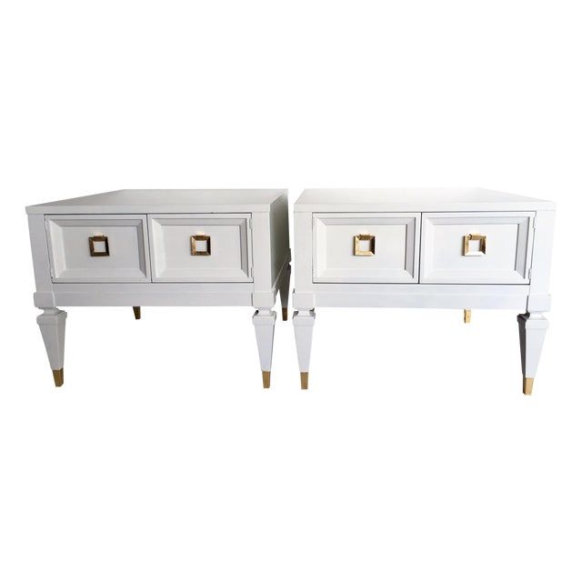 Widdicomb Mid-Century End Tables Nightstands- Pair - Image 1 of 5
