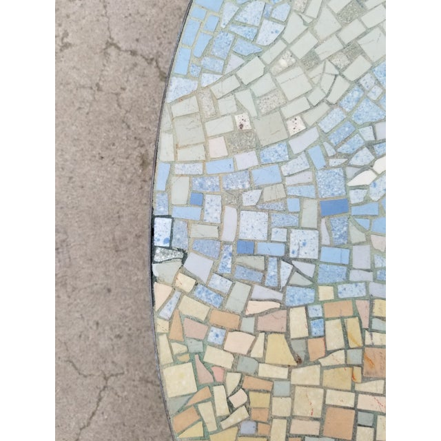 Exceptional Mosaic Tile Coffee Table With Sail Boat For Sale - Image 9 of 13