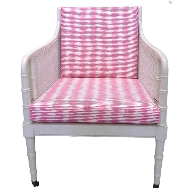 Raoul Textiles Bamboo Armchairs & Ottoman - 3 Pieces For Sale - Image 4 of 6
