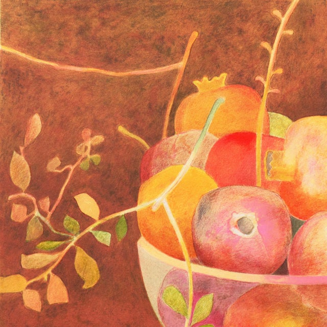 Paper Still Life of Pomegranates by Pierre Garcia Fons For Sale - Image 7 of 10