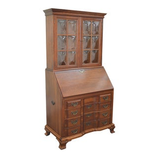Maddox Colonial Reproductions Solid Cherry Block Front Secretary Desk