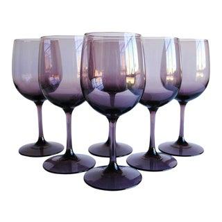 Vintage Wine Glasses, Set of 6