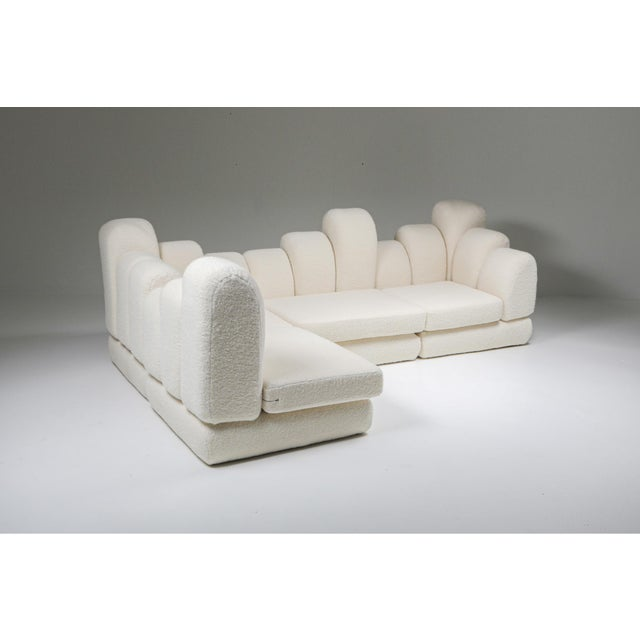 Hans Hopfer 'Dromedaire' Sectional Sofa in Pierre Frey Wool, Roche Bobois - 1974 For Sale - Image 6 of 12