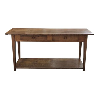 18th Century Rustic Country French Sofa Table For Sale