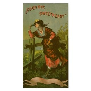 "Vintage ""Goodbye Sweetheart"" Advertisement Print For Sale"