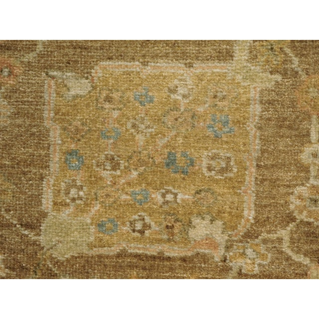 """Hand Knotted Indo-Ushak Floral Design Rug - 8'x 9'8"""" - Image 6 of 10"""