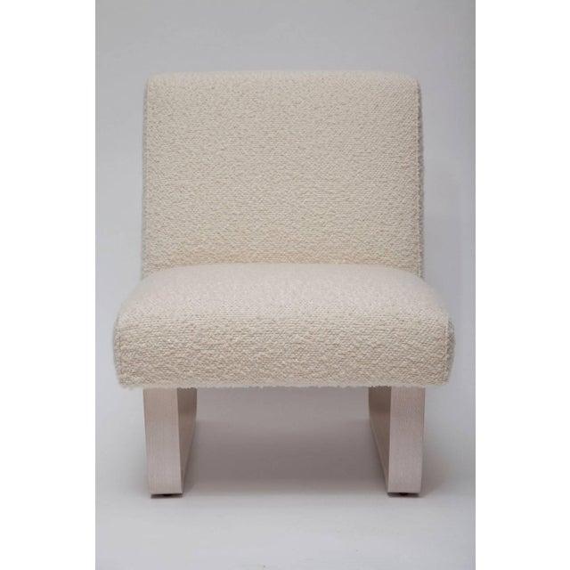 "Dunbar Furniture Edward Wormley ""Modern Morris"" Bleached Mahogany Slipper Chair For Sale - Image 4 of 9"