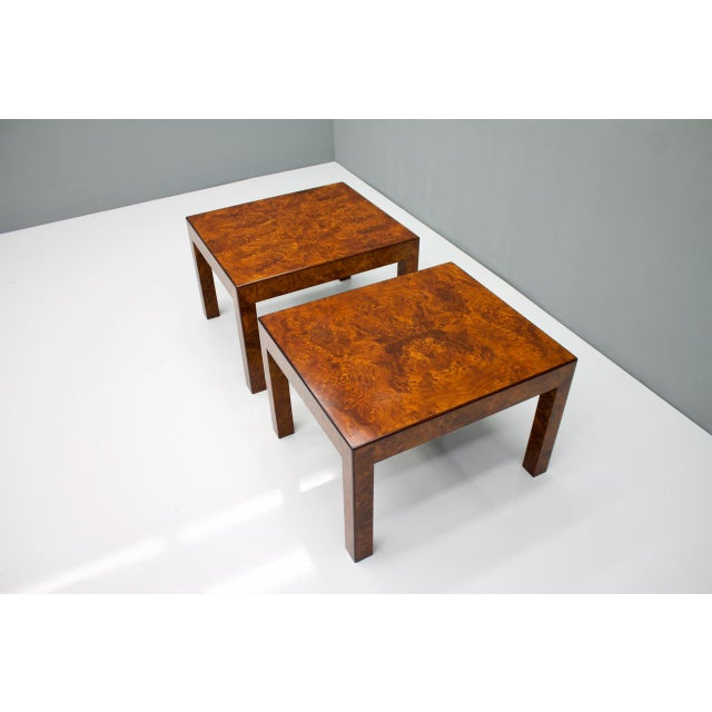 Pair of Burl Wood Side or End Tables 1970s For Sale - Image 6 of 10