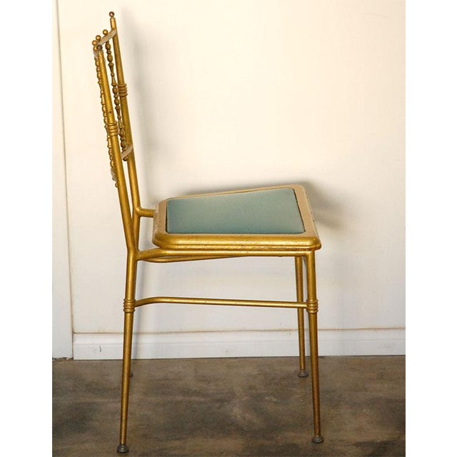 Gold Metal Chiavari Chairs - Set of 6 For Sale - Image 8 of 8