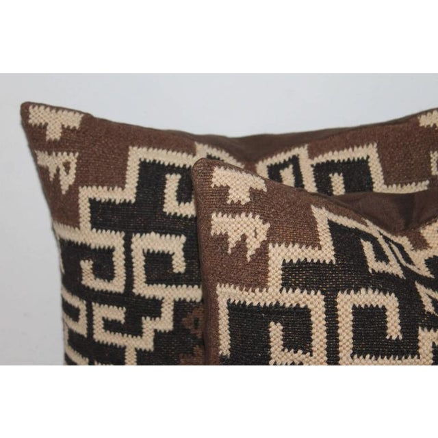 Pair of Indian Weaving Pillows - Image 5 of 6