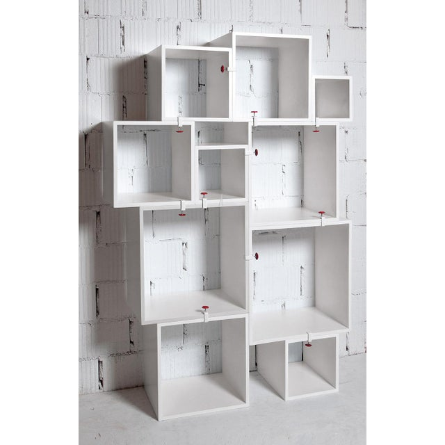 Modern Seletti Assemblage Nesting Modular Bookcase Wall Unit- 10 Pieces For Sale In New York - Image 6 of 6