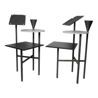 Pair of 1980s Philippe Starck Paramount Hotel Side Tables For Sale