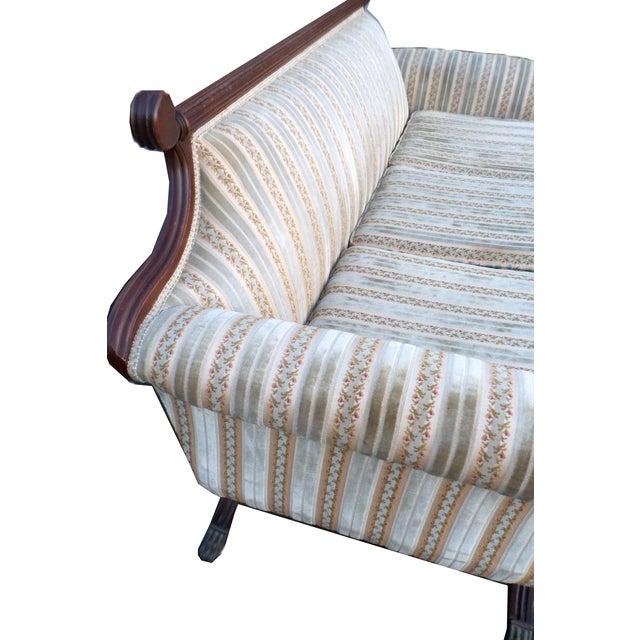 Hollywood Regency American Empire Ornate Sofa - Image 3 of 8