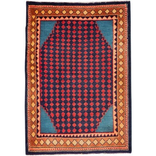 """Vintage Persian Mahal Rug – Size: 1' 1"""" X 2' 9"""" For Sale"""