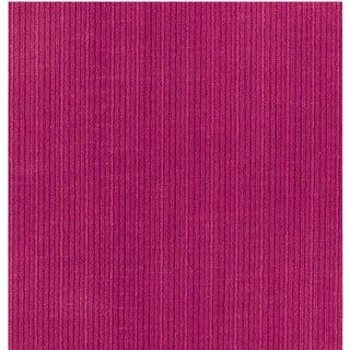 Schumacher Antique Strie Velvet Fabric in Fuchsia For Sale