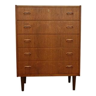 "Original Danish Mid Century Teak 5 Drawer Dresser - ""Ebeltoft"""