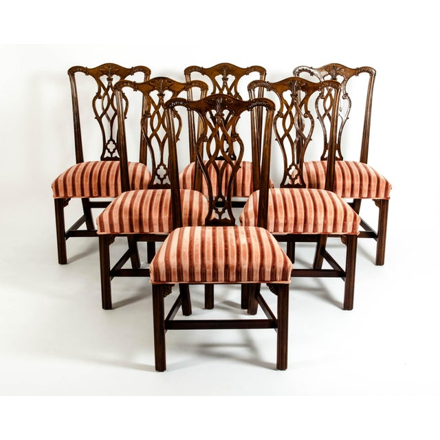 George III Style Mahogany Dining Chairs - Set of 8 For Sale - Image 4 of 13