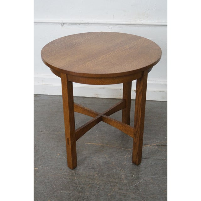 Stickley Mission Oak Side Table For Sale - Image 5 of 10