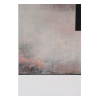 """Tamar Zinn """"At the Still Point 41"""" Abstract Minimal Pastel Pink Quartz Rose Painting on Paper For Sale"""