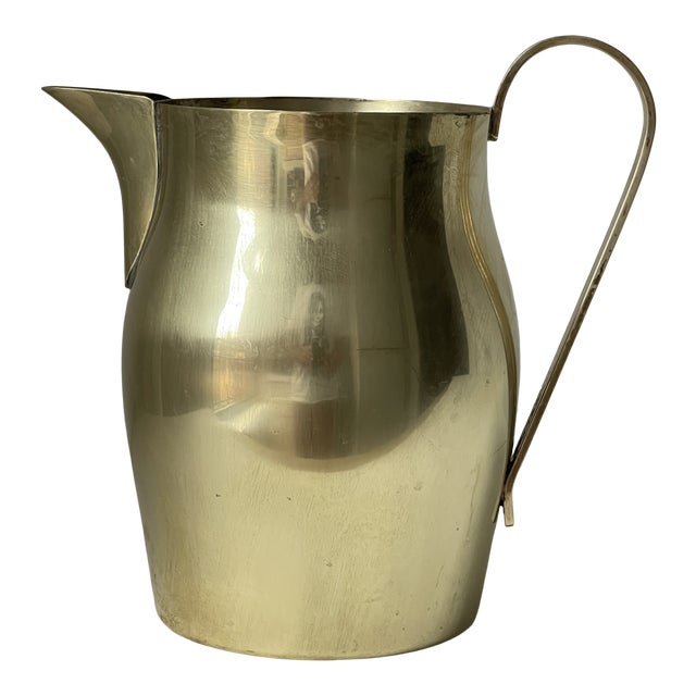 Dorlyn Brass Pitcher by Parzinger For Sale