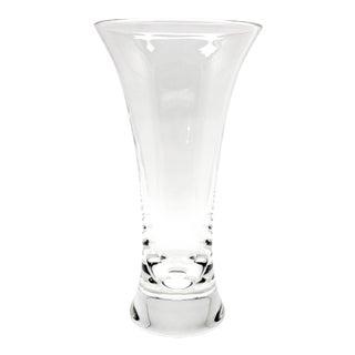 1970s Vintage Steuben Beaker Crystal Glass Vase For Sale