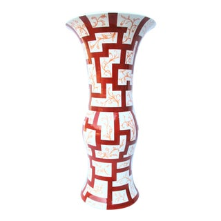1930s Wiener Werkstatt Porcelain Vase by o.b For Sale