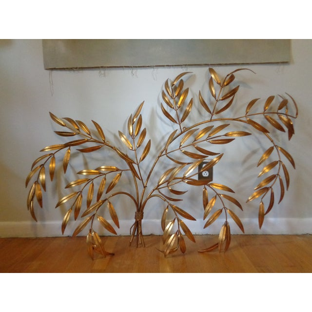 Gilded Italian Frond Wall Sculpture - Image 2 of 5