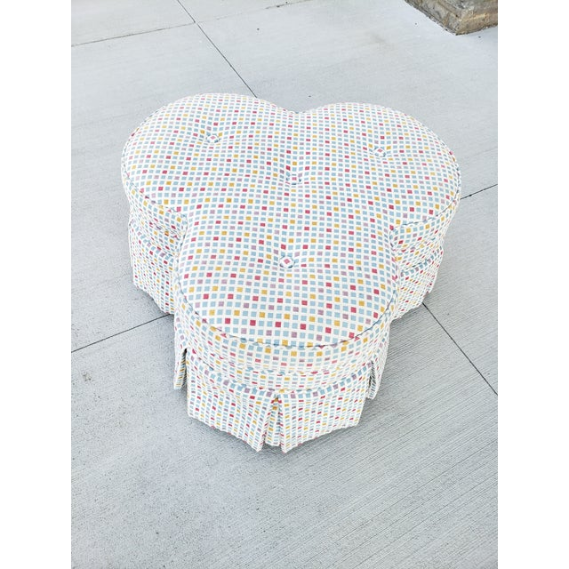 Contemporary Contemporary Clover Form Ottoman For Sale - Image 3 of 13