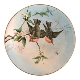Antique Hand Painted Bird Plate