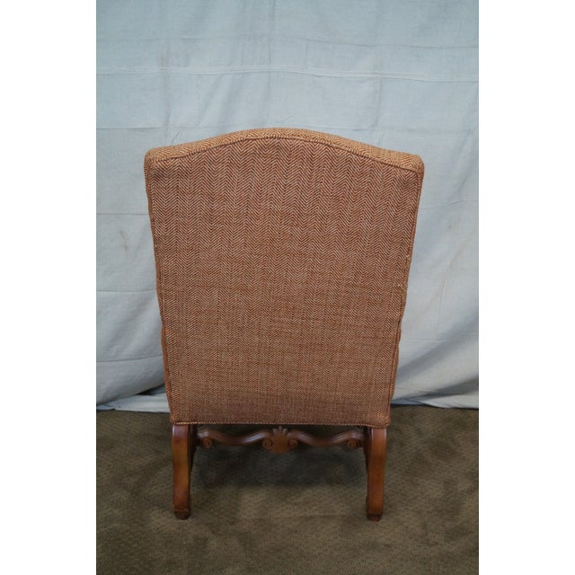 Quality Renaissance Style Carved Frame Arm Chair - Image 4 of 10