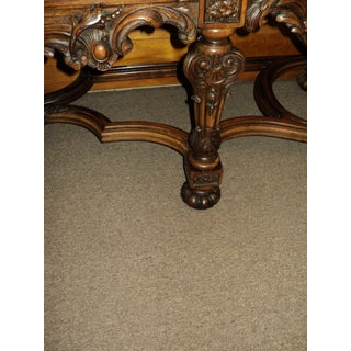 Antique Burl Walnut Jacobean Marble Top Sideboard Preview
