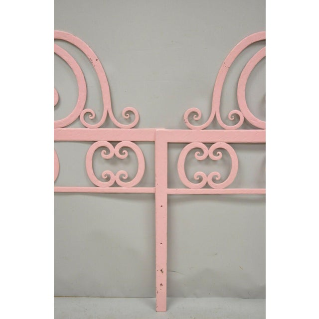 Mid 20th Century Vintage Italian Gothic Iron Hollywood Regency Twin or King Bed Headboard - a Pair For Sale - Image 11 of 13