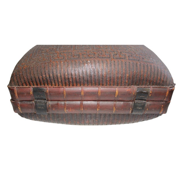 Antique Chinese Woven Trunk For Sale - Image 5 of 6