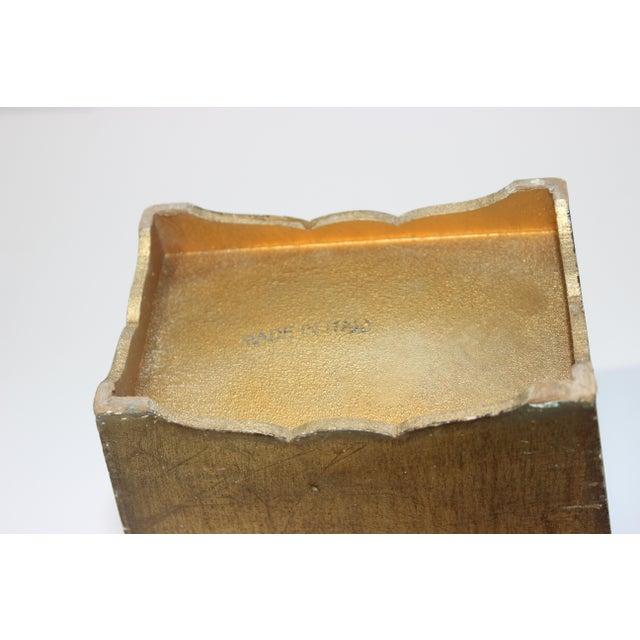 Mid-Century Florentine Giltwood Wastebasket Gilt Wood For Sale - Image 9 of 11