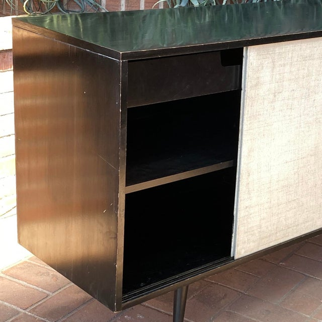 Paul McCobb Planner Group Credenza With Original Ebonized Wood Finish, 1950s For Sale - Image 11 of 12