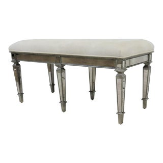 Hollywood Regency 6 Leg Mirrored Bench