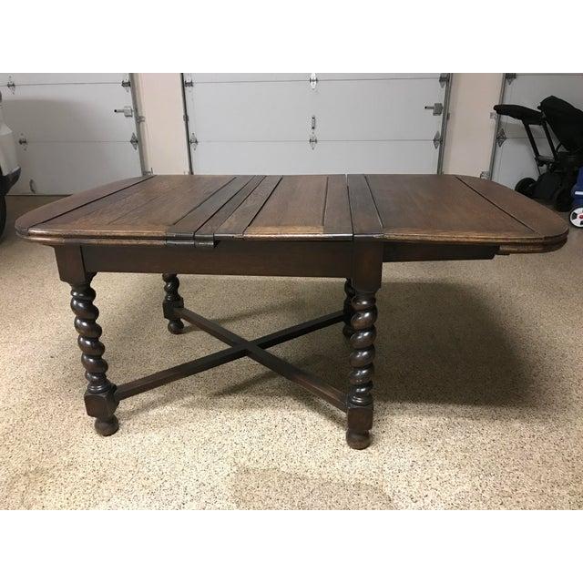 Wood Vintage Barley Twist Dining Table For Sale - Image 7 of 8
