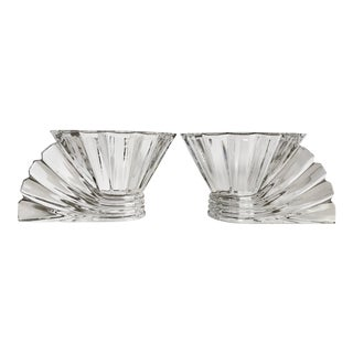 Vintage Rosenthal Studio Linie Art Deco Style Glass Bowls - a Pair For Sale