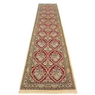 Shiraz - Persian Floral Naein Runner - 3'2''×13'3'' For Sale