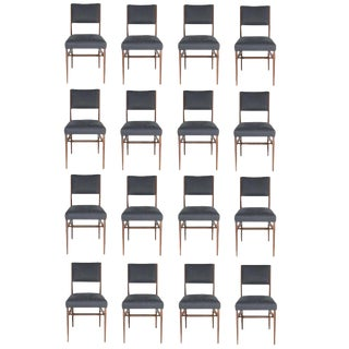 Set of 16 Maze Walnut Dining Chairs For Sale