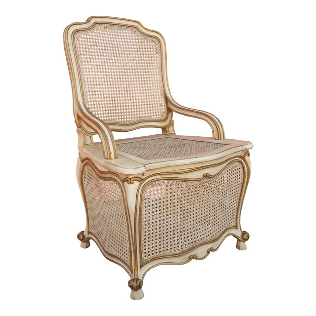 French Provincial Commode Chair For Sale