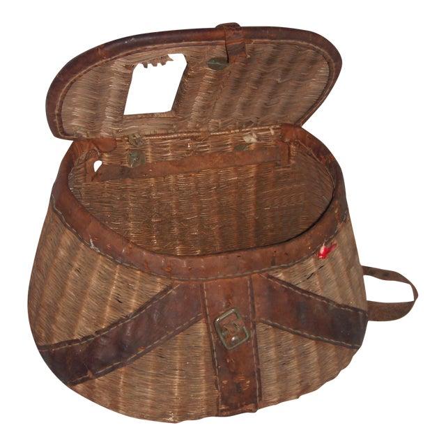 Vintage Wicker Fishing Creel Basket - Image 1 of 5
