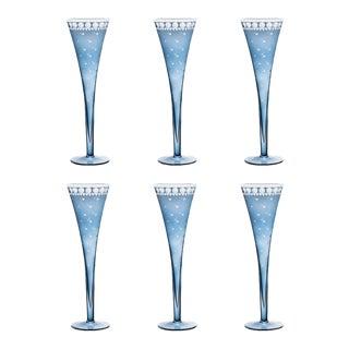 ARTEL Staro Champagne Flute, Slate, Set of 6 For Sale